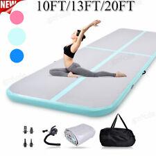 Inflatable Air Track Floor Home Gymnastics Tumbling Yoga Mat Gym 10/13/20ft