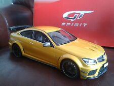 NEW GT SPIRIT MERCEDES BENZ C63 AMG V8 BLACK SERIES COUPE (W204) SOLARBEAM 1/18