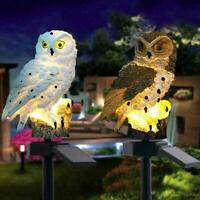 Outdoor Solar Power Garden Lights Owl Decor Path Lawn Landscape Yard LED X4C6