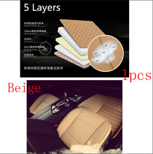 3D PU Leather Bamboo Charcoal Car Vehicle Seat Cover Protector Cushion Mat Beige
