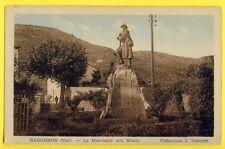 CPA RARE France 83 - BARGEMON (Var) Le MONUMENT aux MORTS Guerre 14 - 18 Poilu