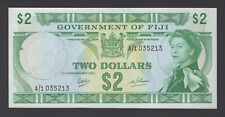 Fiji $2 P60a Nd(1969) signed Ritchie - Barnes Uncirculated