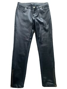Ladies Barbour Leather Look Trousers