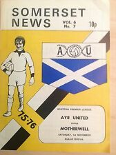 Ayr v Motherwell 1975-76 programme
