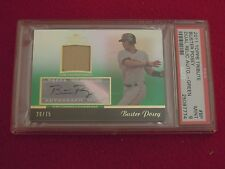 2011 Buster Posey Topps Tribute Dual Relic Green Autograph Card 20/75 PSA 9