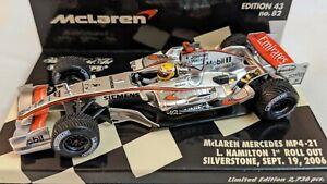 Minichamps F1 Lewis Hamilton 1st Rollout Silverstone 2006 McLaren Mercedes...