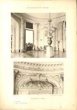 Salon Rond des Huissiers Détail des Tambours Château de Versailles GRAVURE 1899