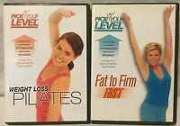 2 Pick Your Level workout DVD lot weight loss pilates fat to firm Ellen Barrett