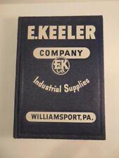 Vintage 1948 E. Keeler Co. Industrial Supplies, Williamsport, PA Catalog