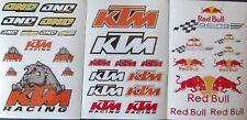 KTM Racing Waterproof Vinyl stickers   Dirt Bike Motorbike Motocross  SALE PRICE