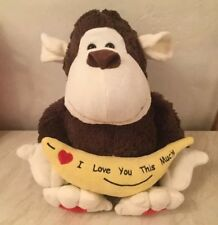 I Love You This Much Monkey Cuddly Soft Toy