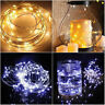 20/50/100 LEDs Battery Operated Mini LED Copper Wire String Fairy Lights 10M