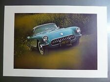 1957 Chevrolet Covette Convertible Print, Picture, Poster RARE!! Awesome L@@K