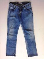 Levis 570 Straight Fit Jeans Hose Blau Stonewashed W29 L34