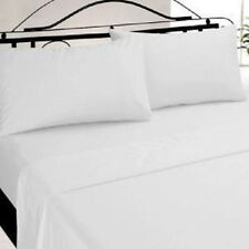 1 NEW FULL SIZE WHITE HOTEL FITTED 54X75X9 PERCALE SHEETS T-180 BEST DEAL