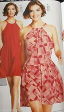 BNWT🌹NEXT Signature🌹100% SILK HALTERNECK FRILL Summer Party DRESS Size 12 Tall