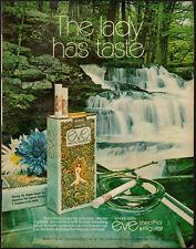 1971 Vintage ad for Eve Menthol Cigarettes/River Scene/Flowers (041313)