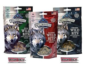 Blue Buffalo Wilderness Wild Bits Dog Treats Healthy USA made Grain Free Bulk