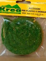Siepe verde medio per plastico ferroviario cm. 50 - Krea art.302