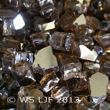 "3 Lbs ~1/2"" Chunky Copper Reflective Fireglass Fire Pit Fireplace Glass Crystals"