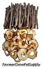 50 Mixed Apple Chews with Free Apple Slices Rabbit,Chinchilla,Guinea Pig