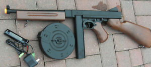 Great Quality Auto Electric Airsoft Gun Thompson Tommy Gun M1A1 Wood Color