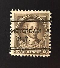 Amsterdam, NY DLE Precancel - ½ cent Washington 1932 Bi-Centennial US #704 - NY