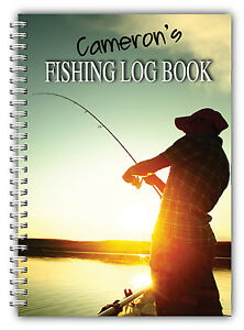A5 FISHING LOG BOOK/ DAILY FISHING DIARY/ A5 PERSONALISED FISHERMAN'S GIFT/05
