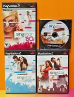 Singstar Rocks Pop Amped '80s - PS2 Playstation 2 Tested 4 Sing Star Game Lot