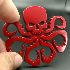 1x Car Auto 3D Red HYDRA Skull Octopus Style Alloy Body Emblem Sticker Universal