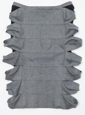 FENDI ITALY Cutout Lace Panel Pencil Skirt Gray Black SIZE IT 42 US 6