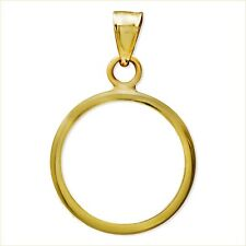 14~KT SOLID GOLD ~ FOR 1/4~OZ GOLD EAGLE ~ PLAIN BEZEL ~ MODERN & CLEAN ~ $82.88