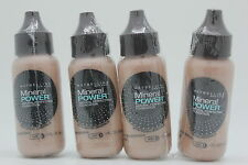 4x Maybelline Mineral Power Foundation - Nude (Light 4), 1 Oz. (NEW-SEALED)