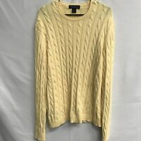 🌴🔥BROOKS BROTHERS Men's Long Sleeve Sweater Large L Yellow🌴Free Ship