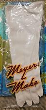 vintage Meyers Make Nylon off-White Gloves w/ Ob/Insert stitching detail 1950's