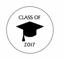 """Personalized Class of 2017 Graduation 1"""" Round Envelope Seals Custom Labels"""