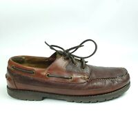 LL BEAN Allagash Bison Leather Loafers Shoes Size Men's 14 Wide