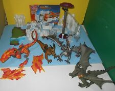 Mega Bloks Fire & Ice Dragons 9887 Fire Storm Fortress Replacement Parts Lot