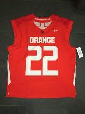 New listing New Nike Syracuse Orange #22 Lacrosse Jersey LG $105 Orange sleeveless