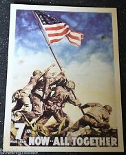 WWII Poster NOW ALL TOGETHER Postcard