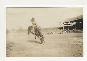 "PENDLETON ROUND-UP ORE, ""Johnny Maggert on Lightning Creek"" RPPC   r1057"