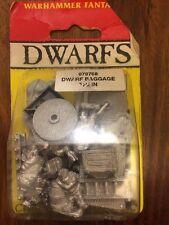 Dwarfs Baggage Train Very Rare New Sealed Limited Edition Dwarf Cart Warhammer