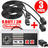 Game Controller+2 PCS 10Ft Extension Cable for Nintendo NES Mini Classic Edition