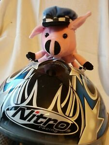 Biker Buddies - Percy The Pig - Looks cute with his Policeman's hat on!