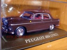 PEUGEOT 404 DARK BROWN 1962 1:43 MINT!!! WITH BOX!