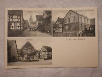 AK Ansichtskarte Gruß aus Herda Kirche Gasthaus Geyer Dorflinde (Eisenach)