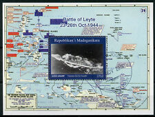 Madagascar 2018 CTO WWII WW2 Battle of Leyte 1v M/S War Ships Military Stamps
