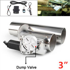 Car Electric Exhaust Downpipe Cutout Bypass E-Cut Out Dual-Valve Remote 3""