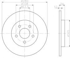 2 x Textar Bremsscheibe PRO HA innenbelüftet für Volvo XC 60 2,0-3,2-92196403