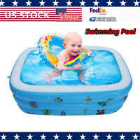 Large Inflatable Swimming Pool Kids Water Play Fun For One/Two/Three Children